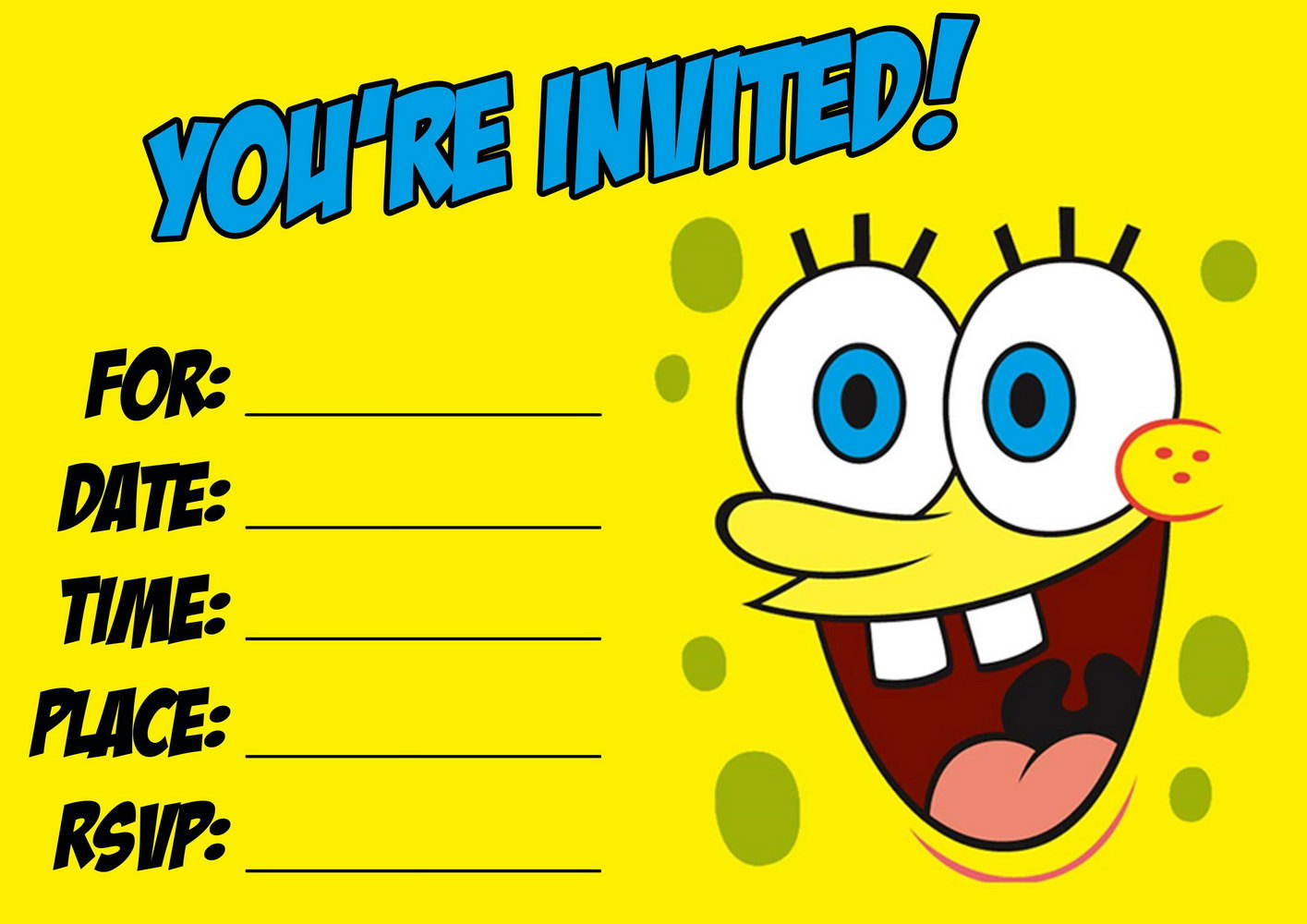 Free Birthday Invitation Templates For Boys