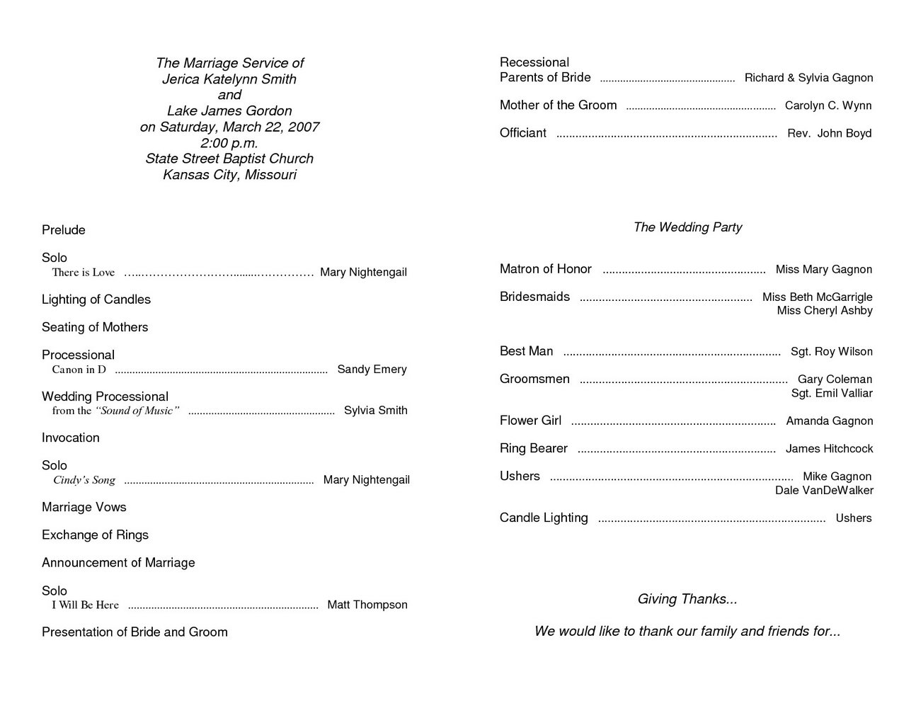 Free Church Anniversary Program Template