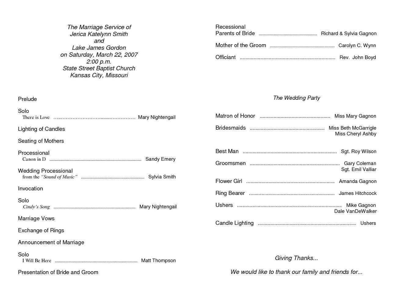 Free Church Anniversary Program Template