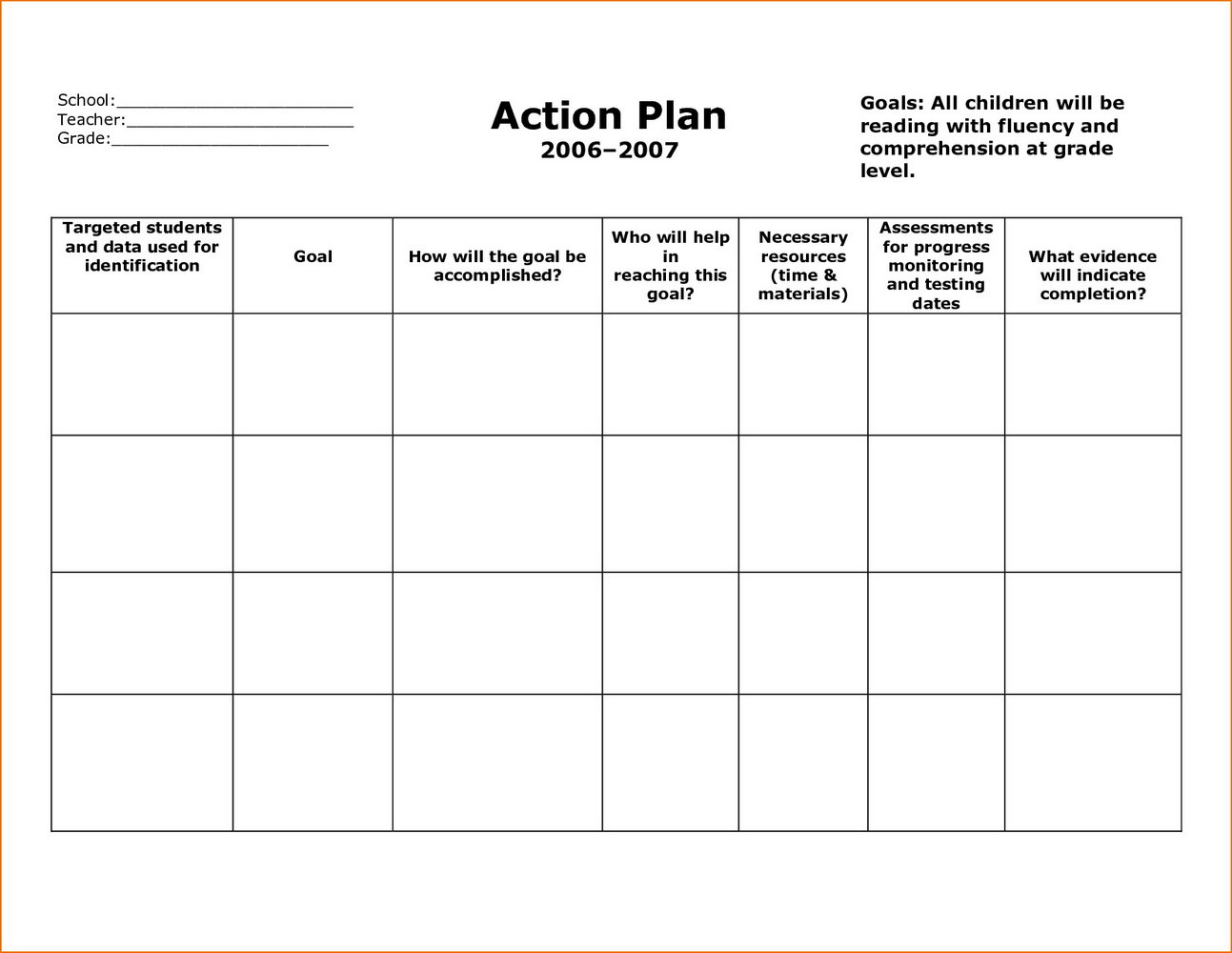 Free Corrective Action Plan Template
