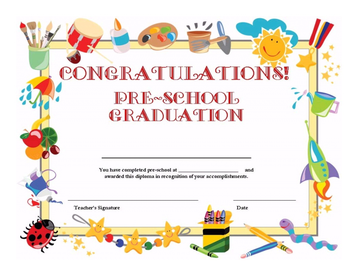 Preschool Graduation Invitation Templates Printable Regarding Pr