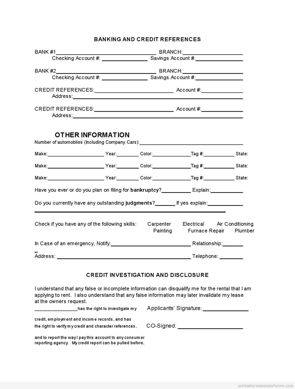 Free Lease Forms Online