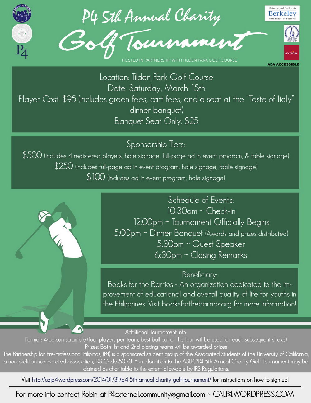 Golf Tournament Flyer Template Publisher