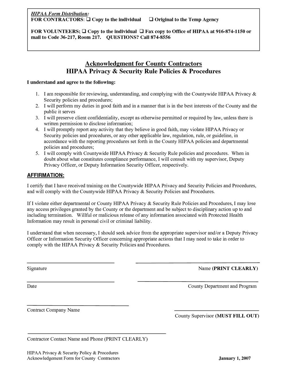 Hipaa Agreement Form Business Associate