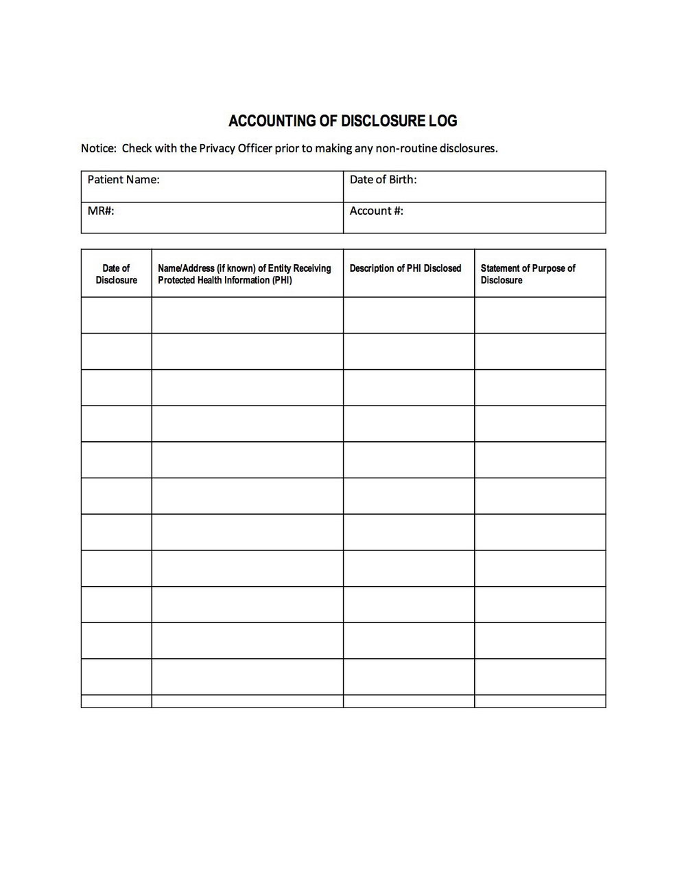 Hipaa Certification Form