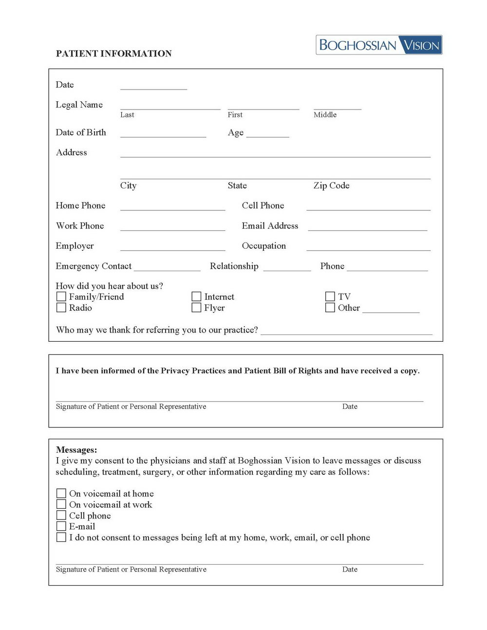 Hipaa Forms For Chiropractic Office
