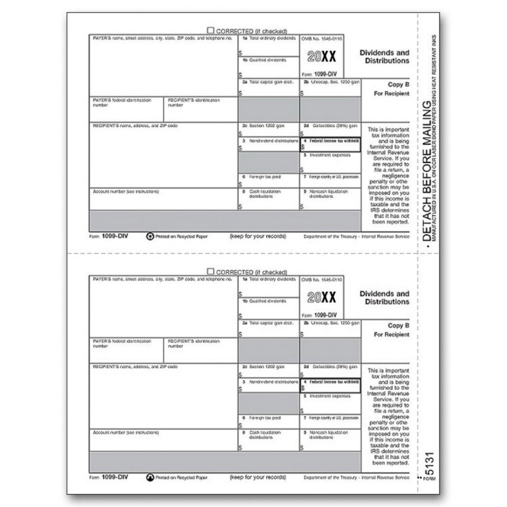 Irs Form 1099 Misc Fillable
