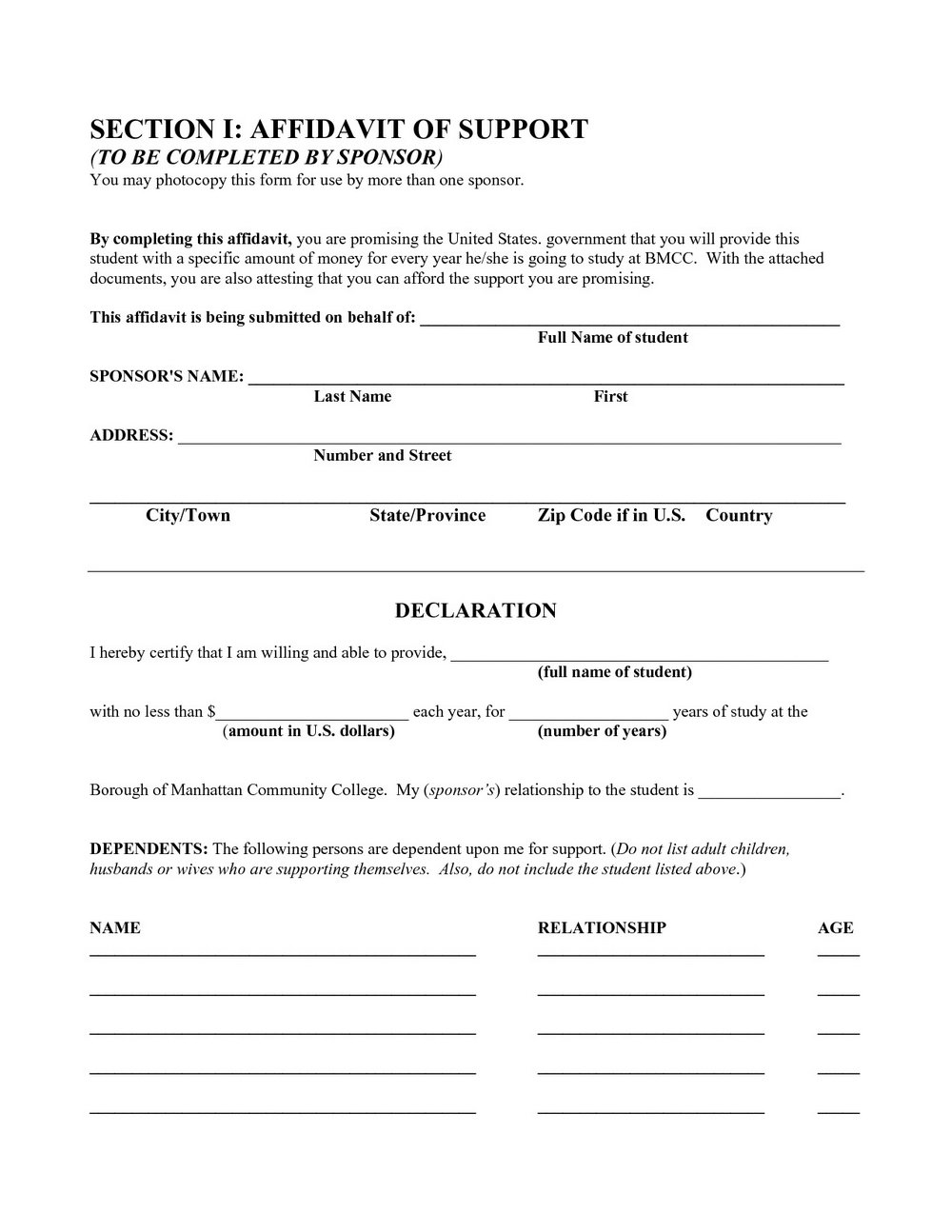 Judicial Affidavit Sample Form