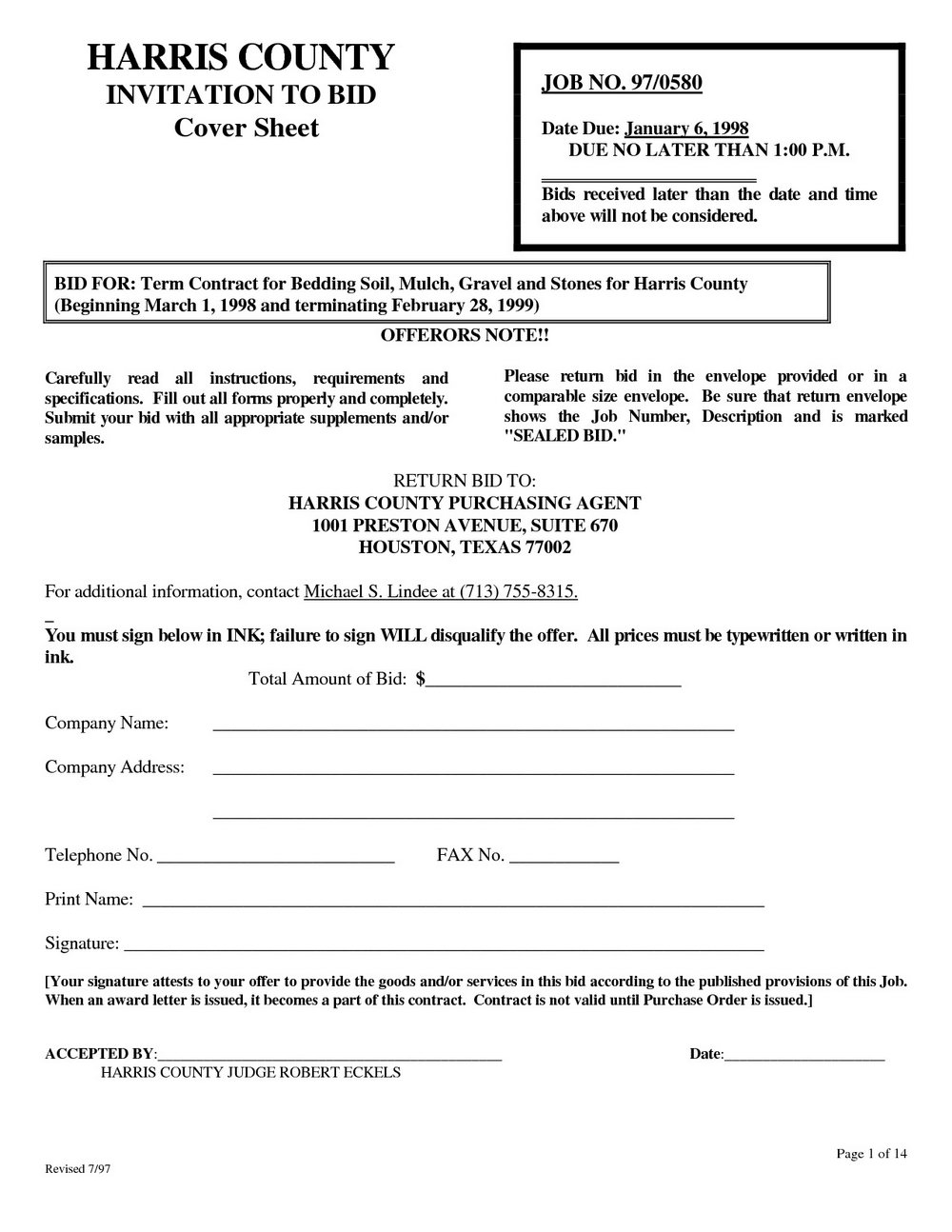 Landscaping Proposal Form Free