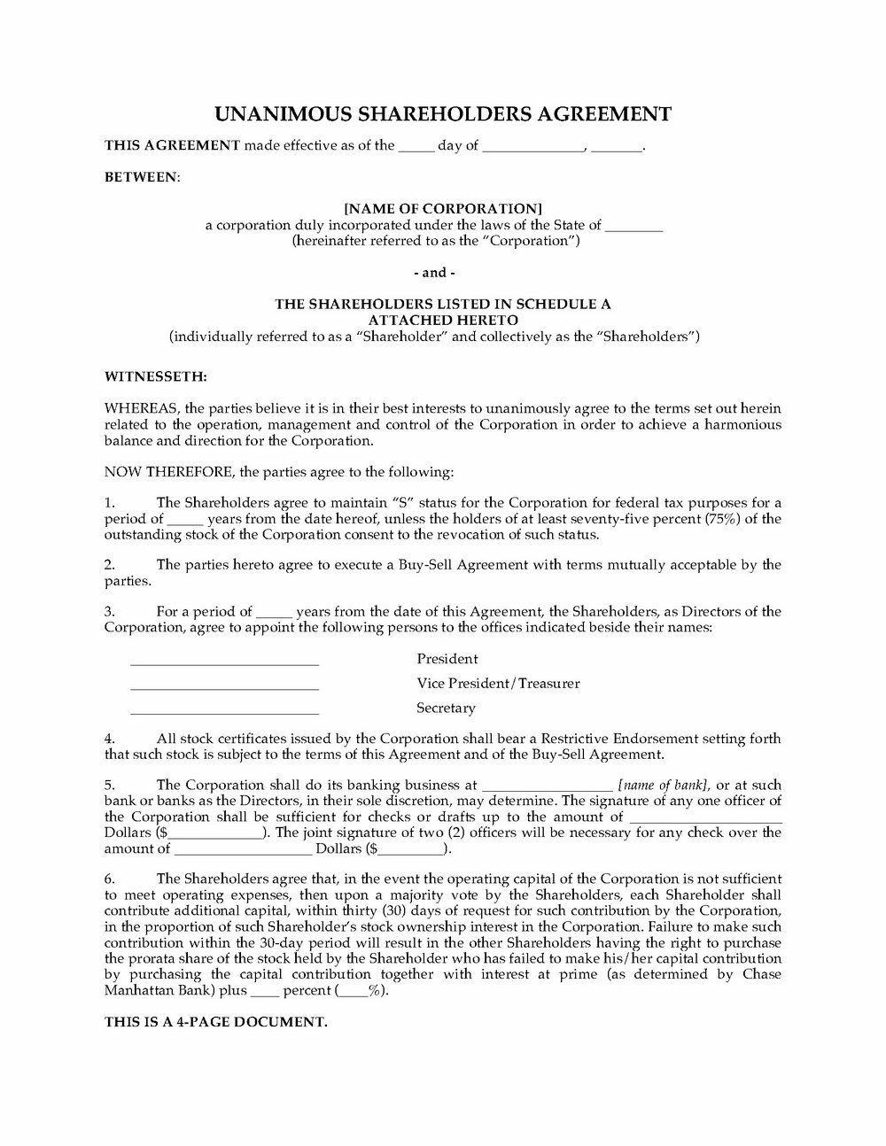 Llc Operating Agreement Template Texas