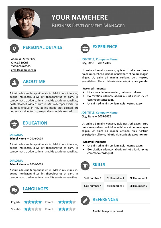 Modern Downloadable Resume Templates