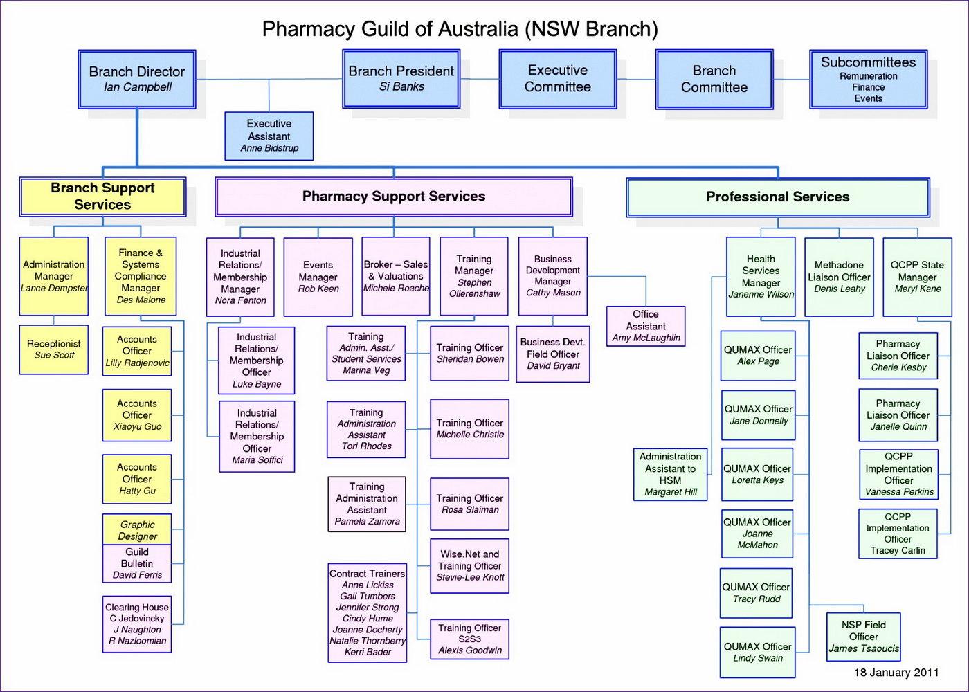 Organizational Chart Template Photoshop