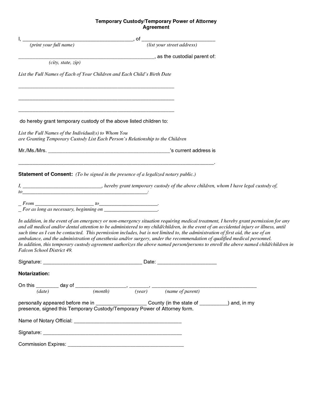 Parenting Agreement Template Uk