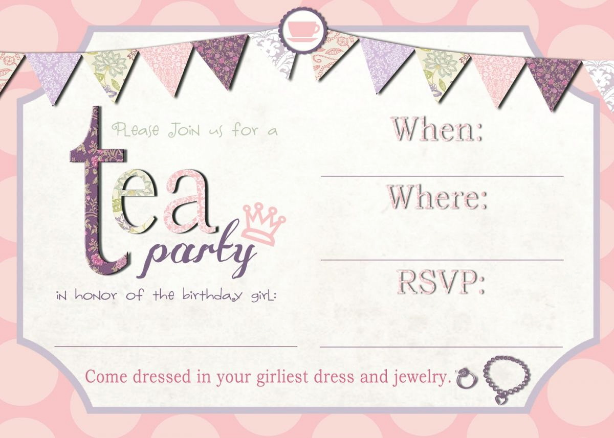 Party Invitation Template Editable