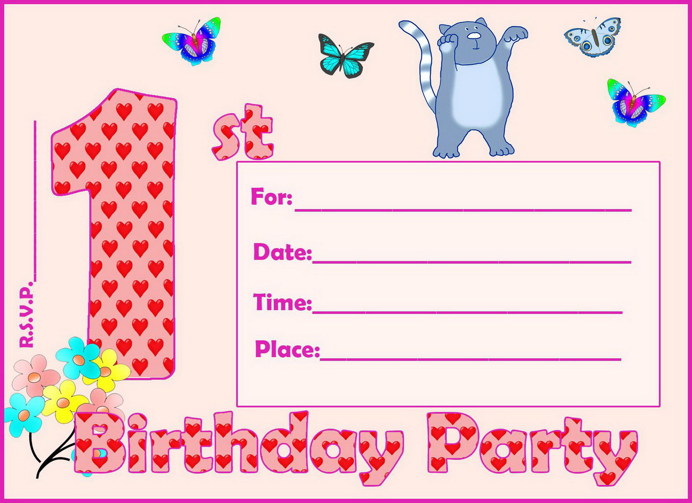 Party Invitation Template Google Docs