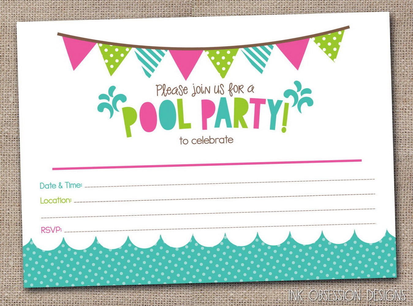 Party Invitation Templates In Afrikaans