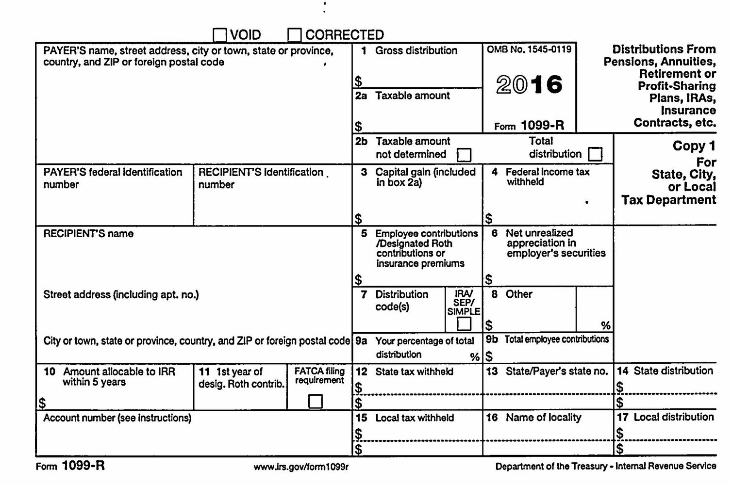 Printable 1099 Misc Form 2016