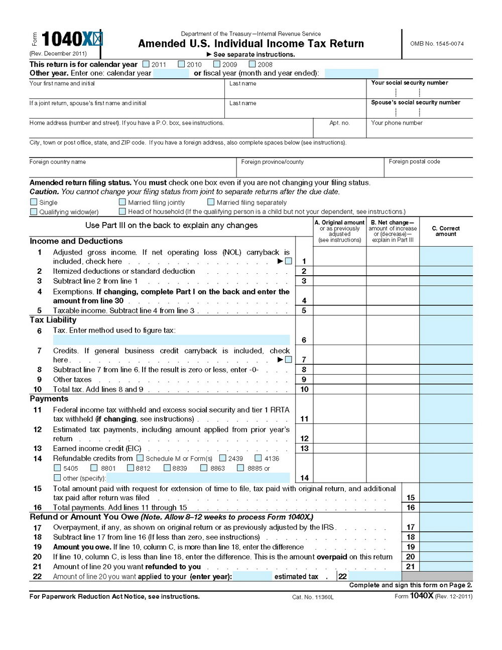 Printable Federal Tax Forms 2016
