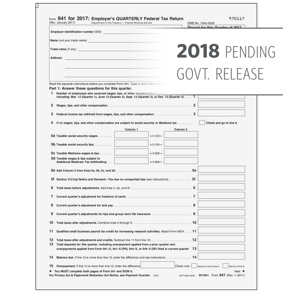 Printable Federal Tax Forms 2018