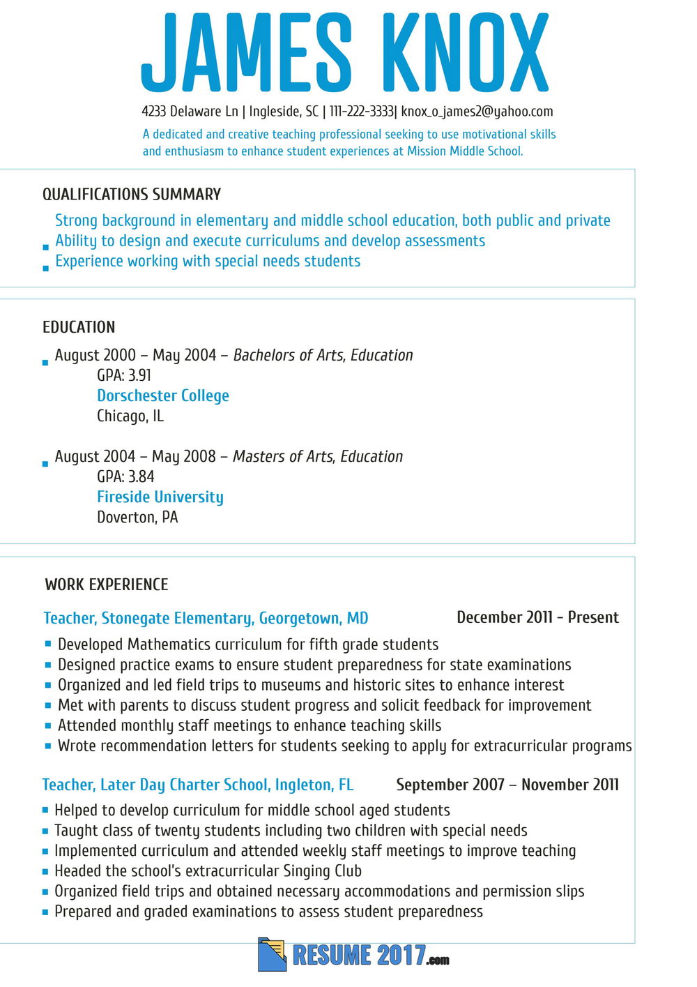 Professional Resume Template For College Students