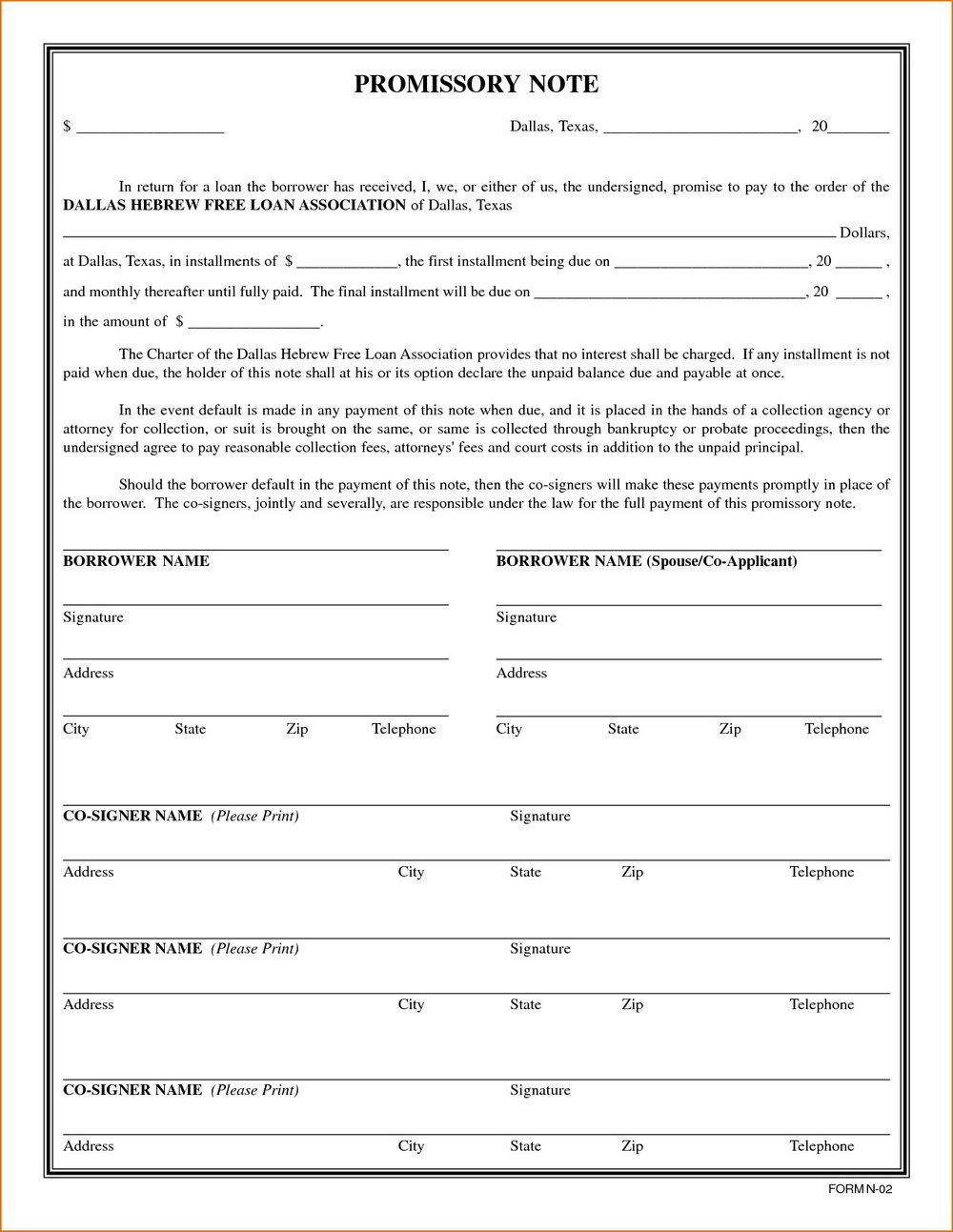 Promissory Note Template In Tamil