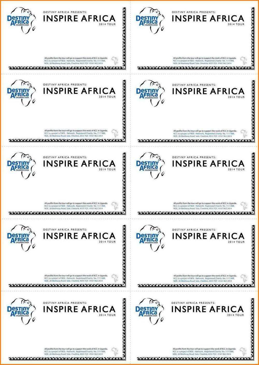 Raffle Ticket Template Editable