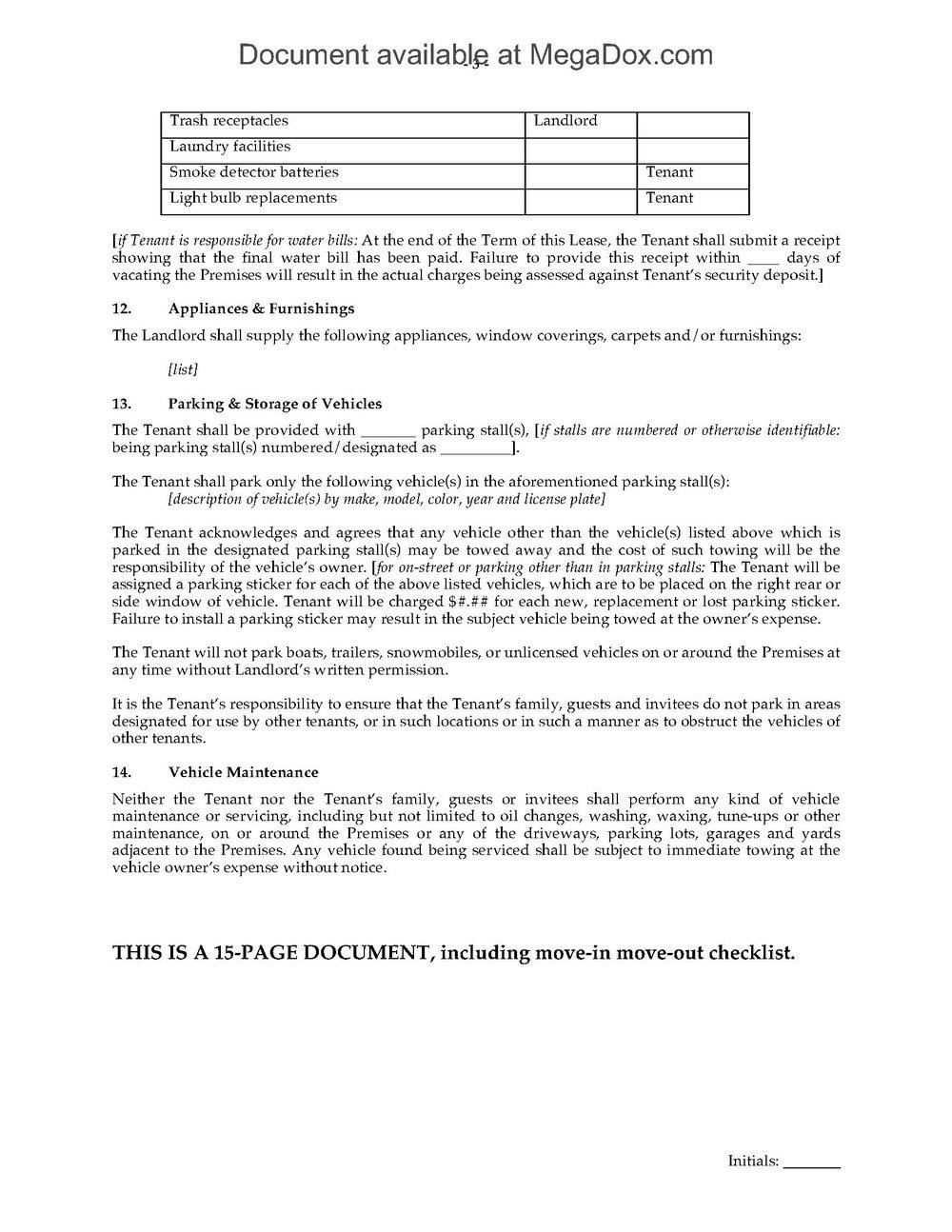 Rental Agreement Forms Oregon