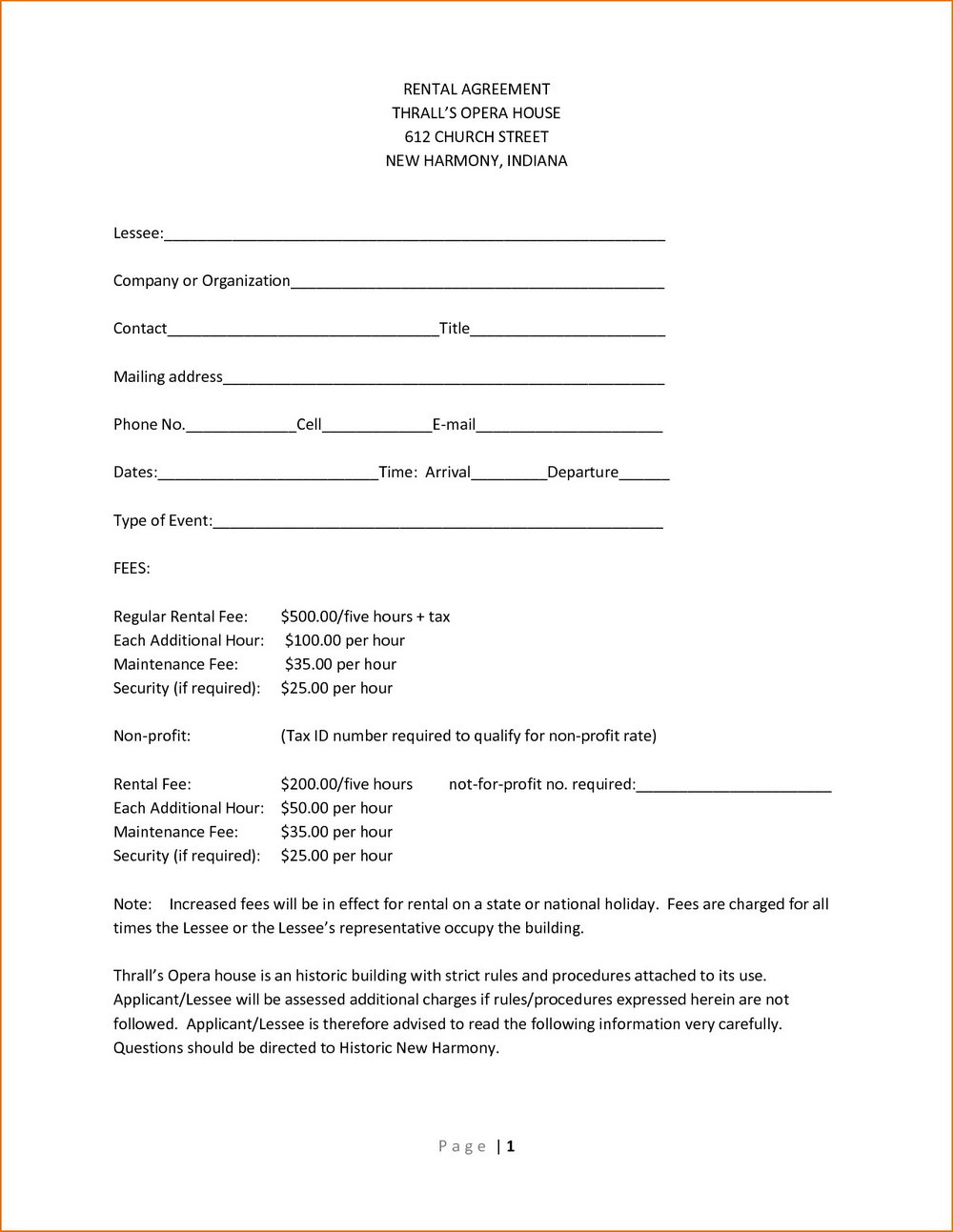 Simple House Rent Agreement Format Forms Mte4mtm Resume