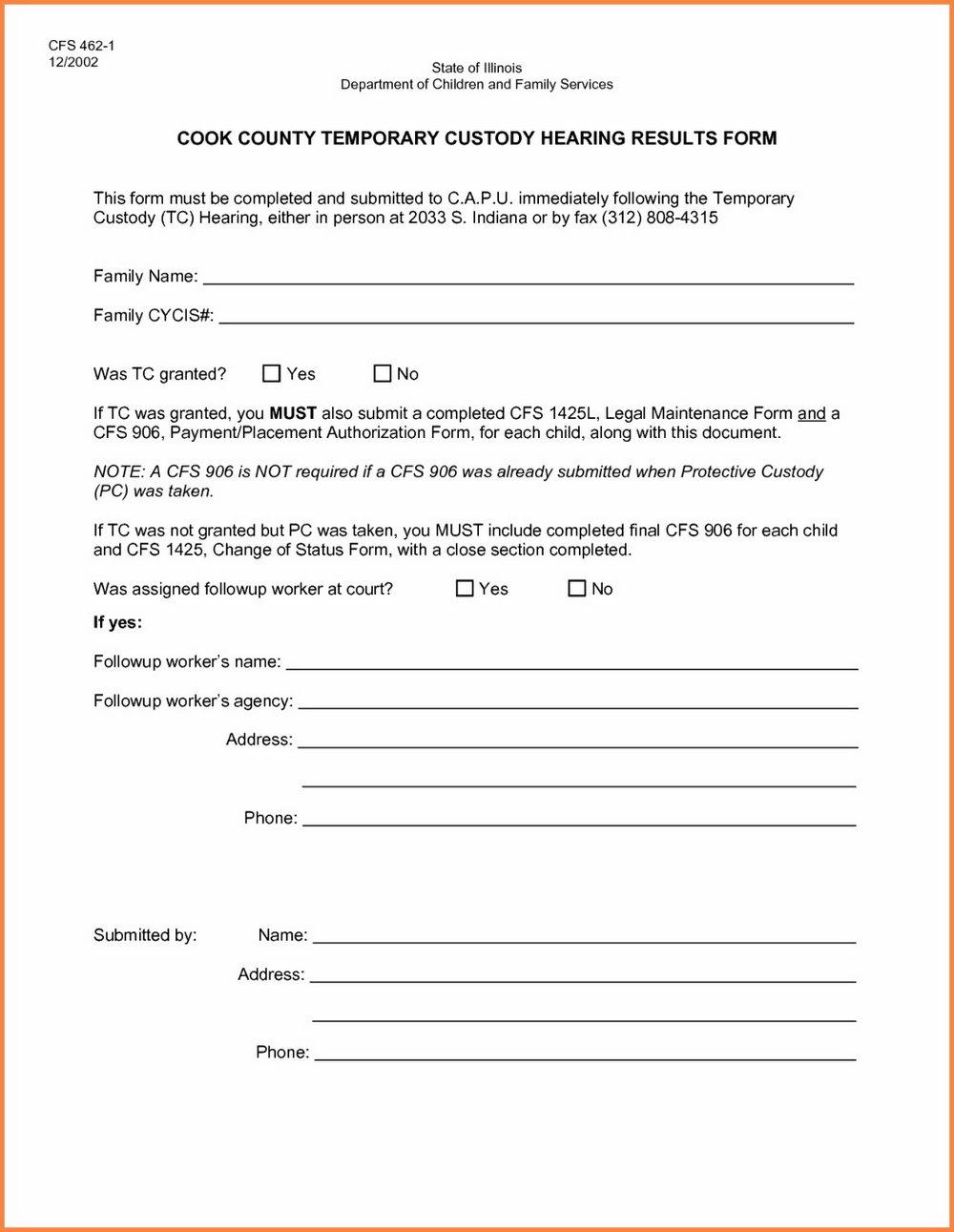 South Carolina Child Custody Forms
