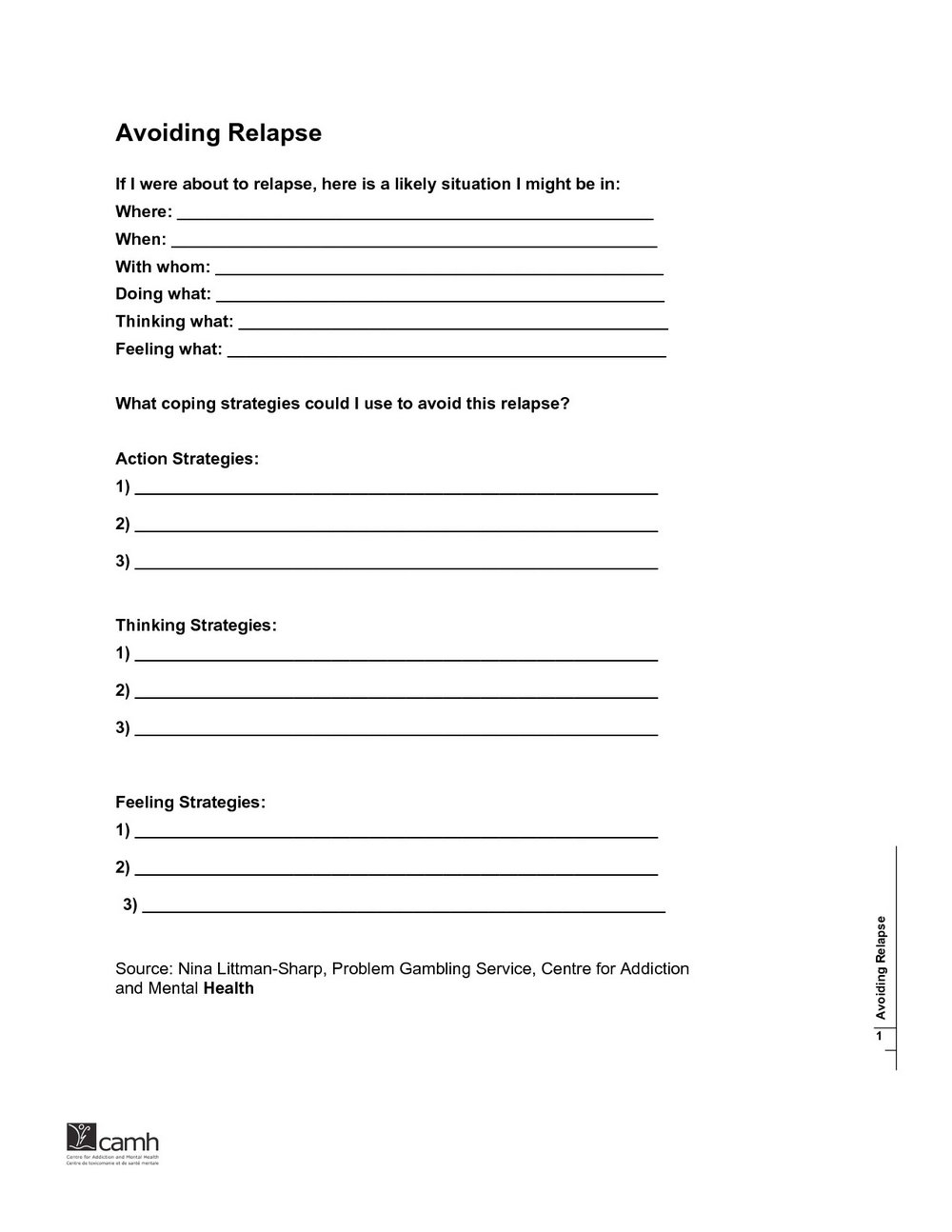 Substance Abuse Worksheets For High School
