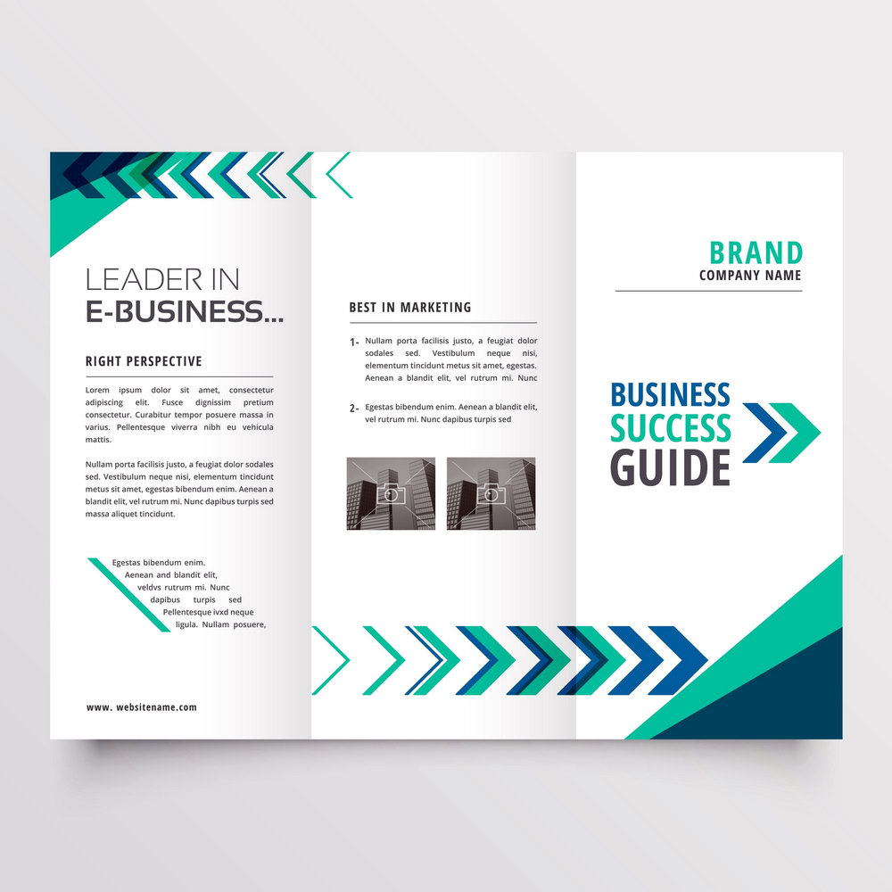 Tri Fold Brochure Template Png