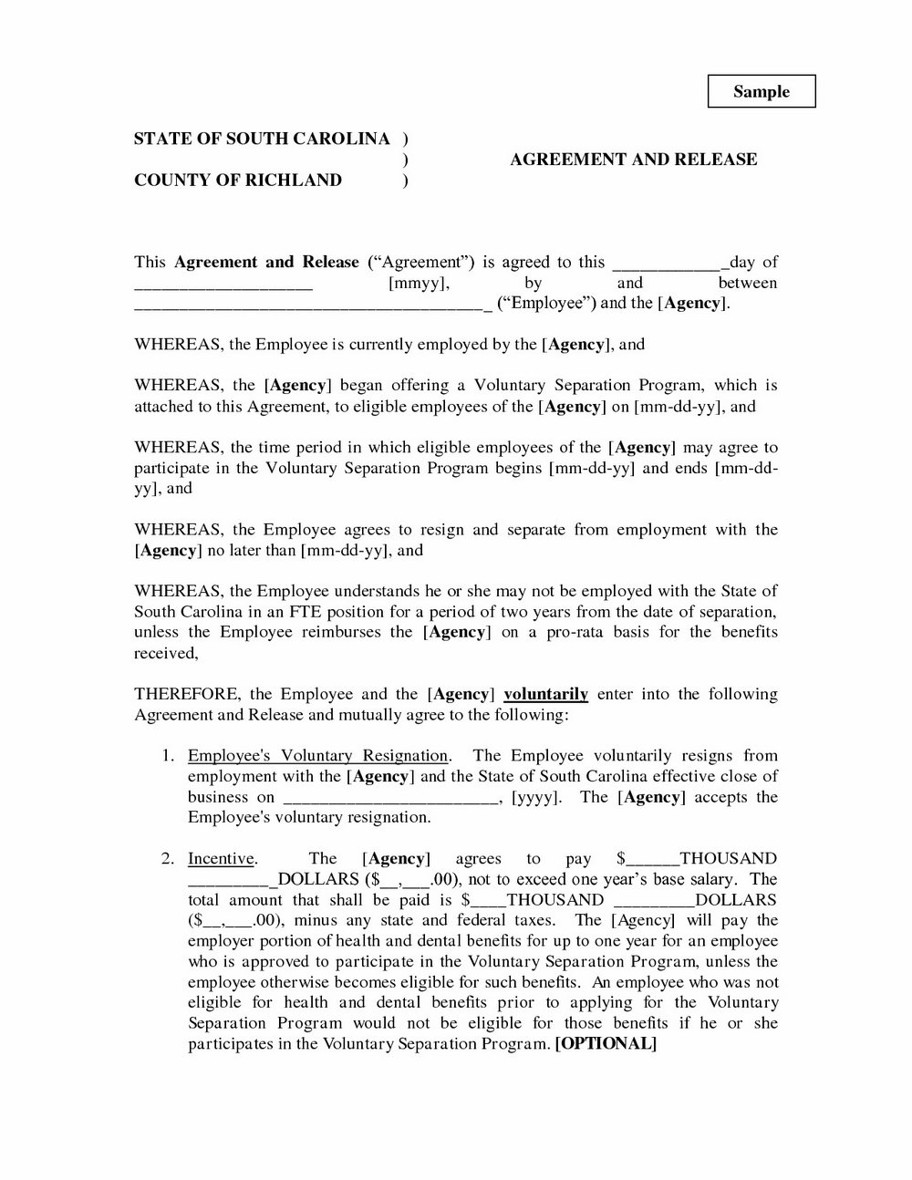 Virginia Separation Agreement Form
