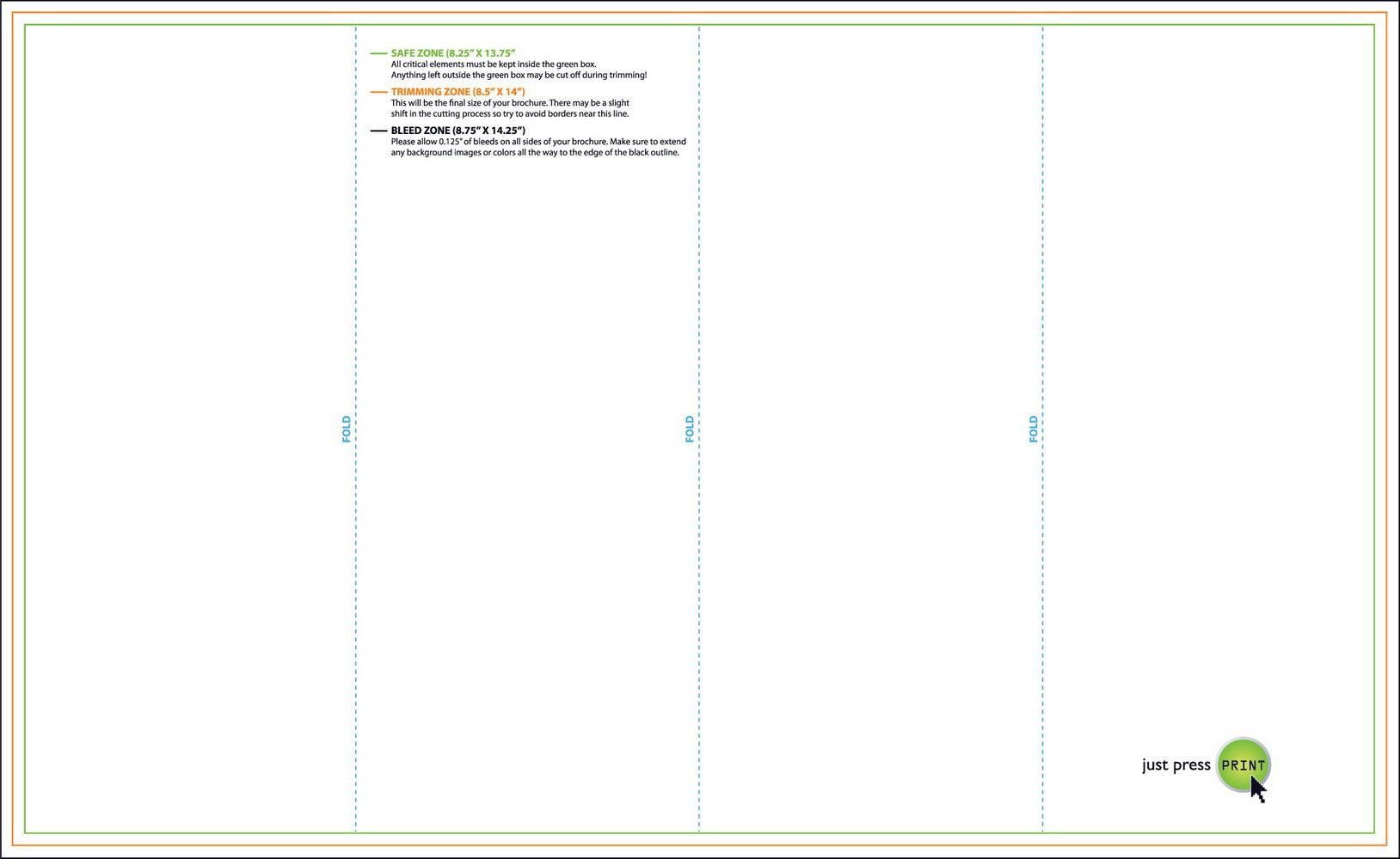 11x17 Half Fold Brochure Template
