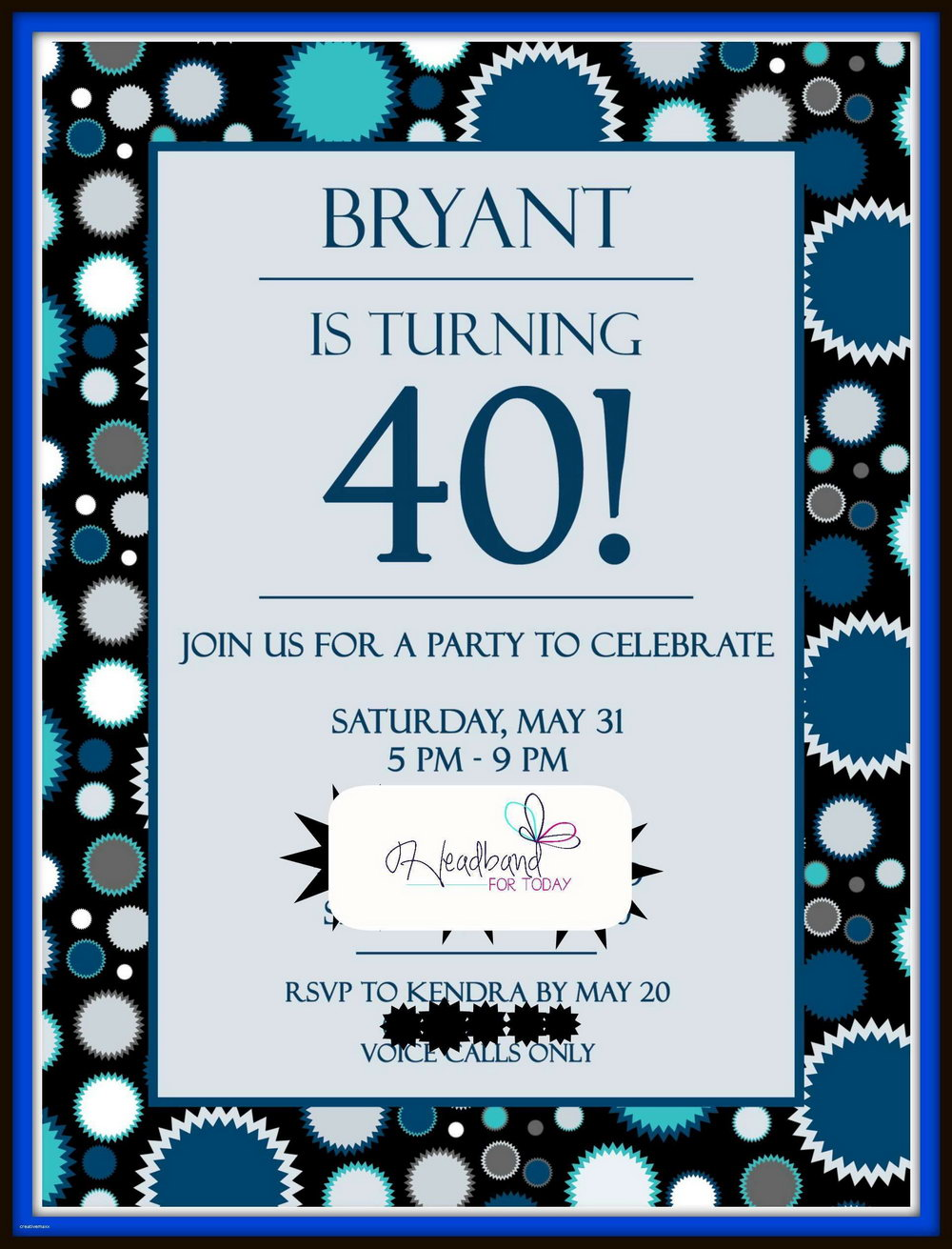 40th Birthday Party Invitation Templates