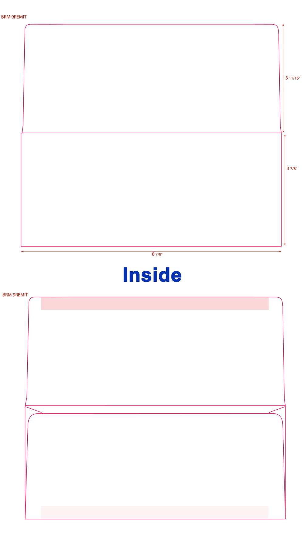 #9 Remittance Envelope Template
