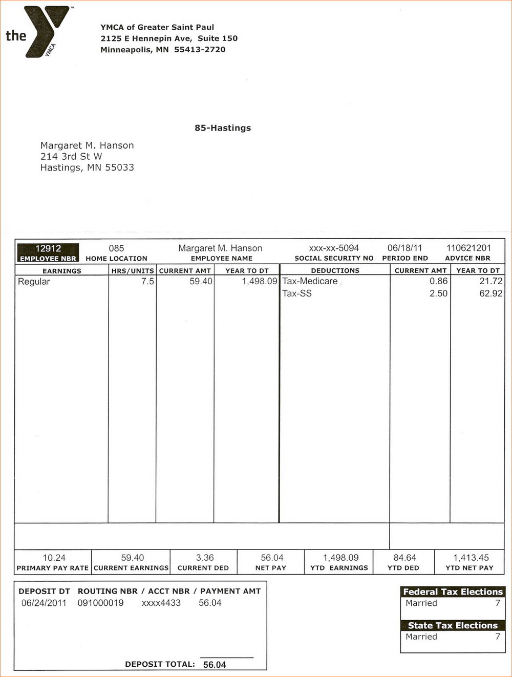 Adp Pay Stub Template Free