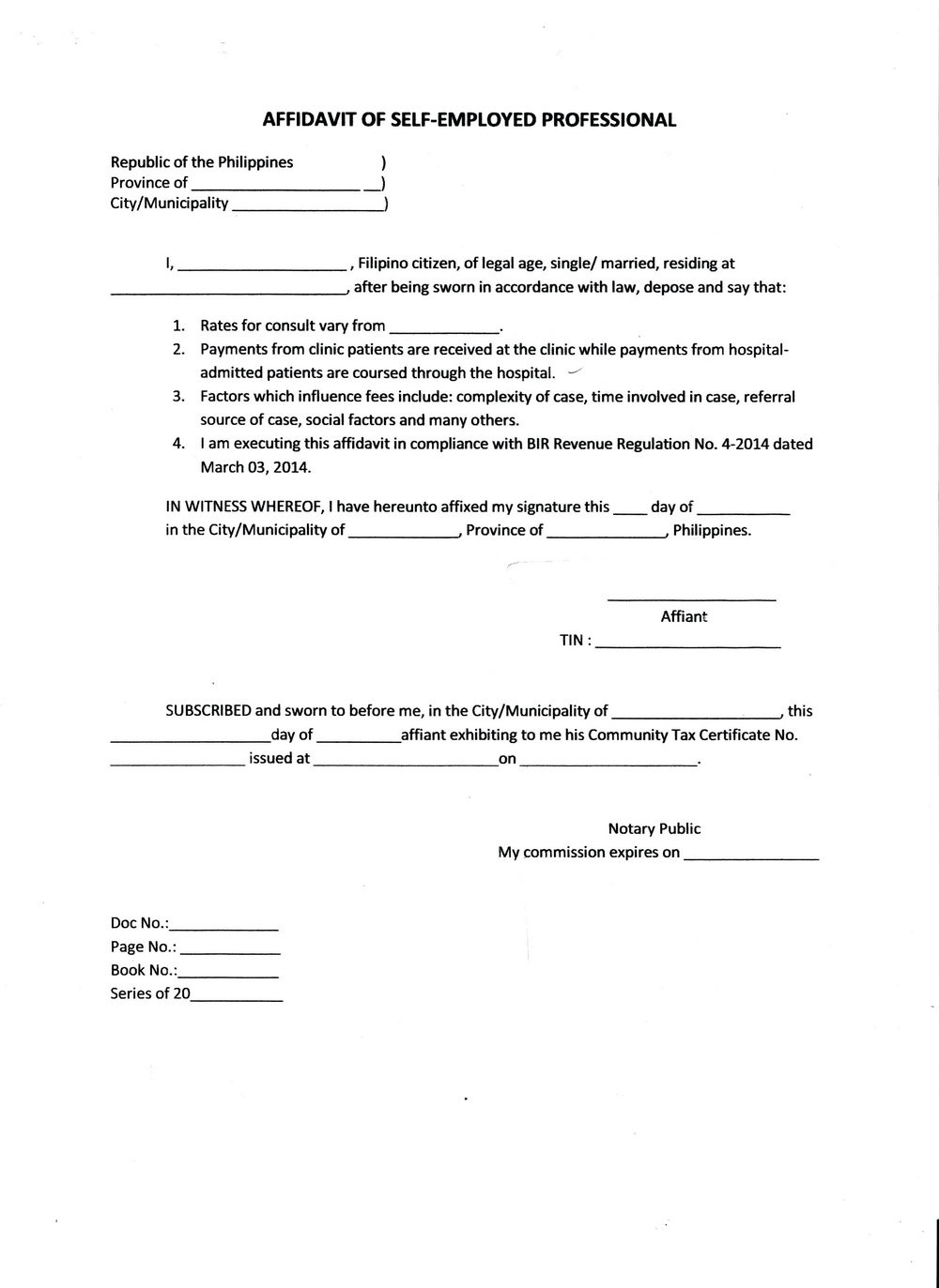 Affidavit Template South Africa Word Document