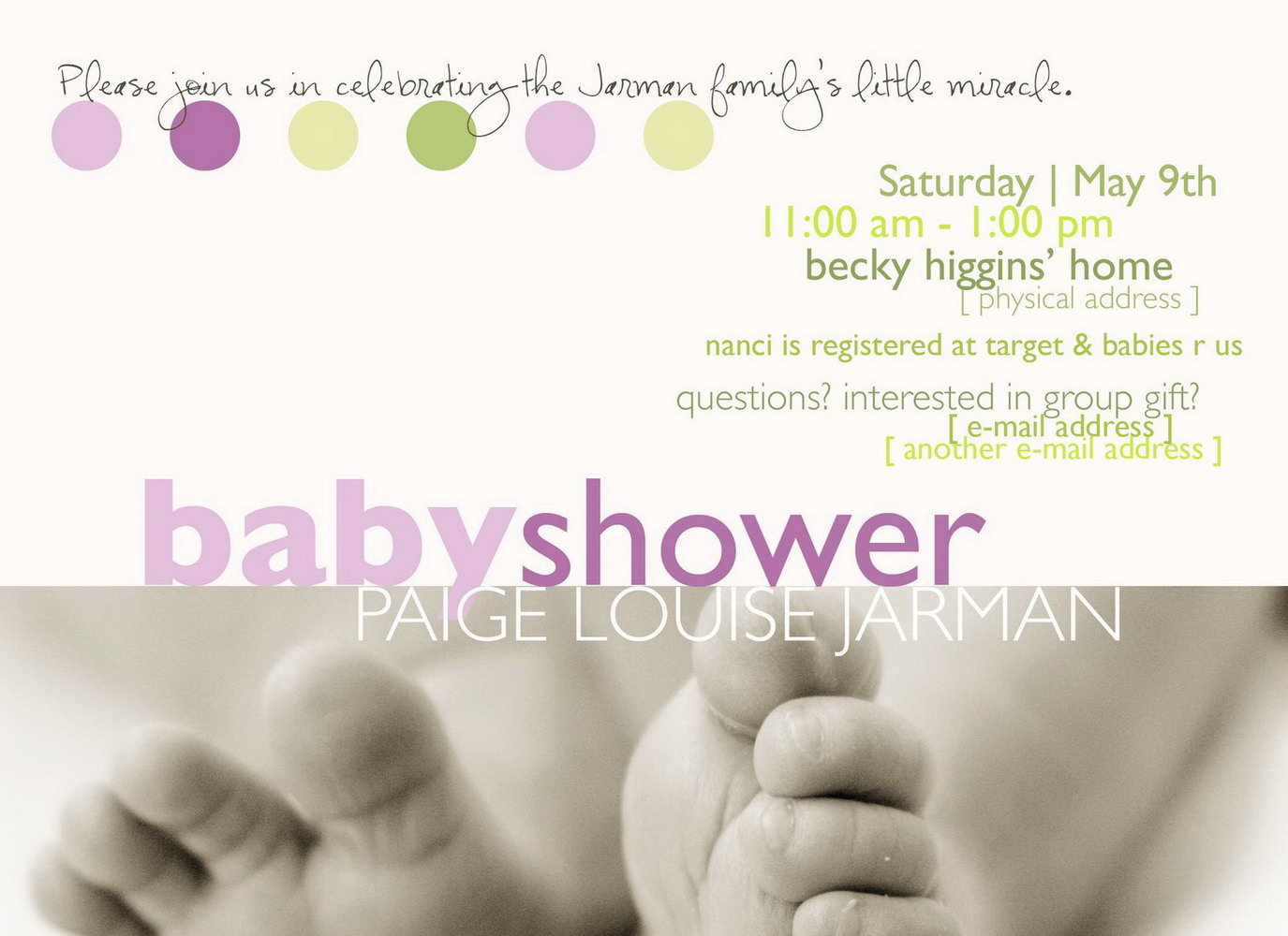 Baby Shower Invitation Template Boy