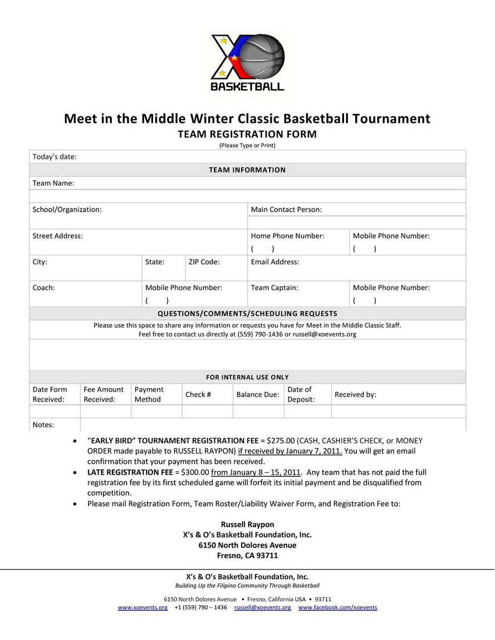 Basketball Waiver Form Template