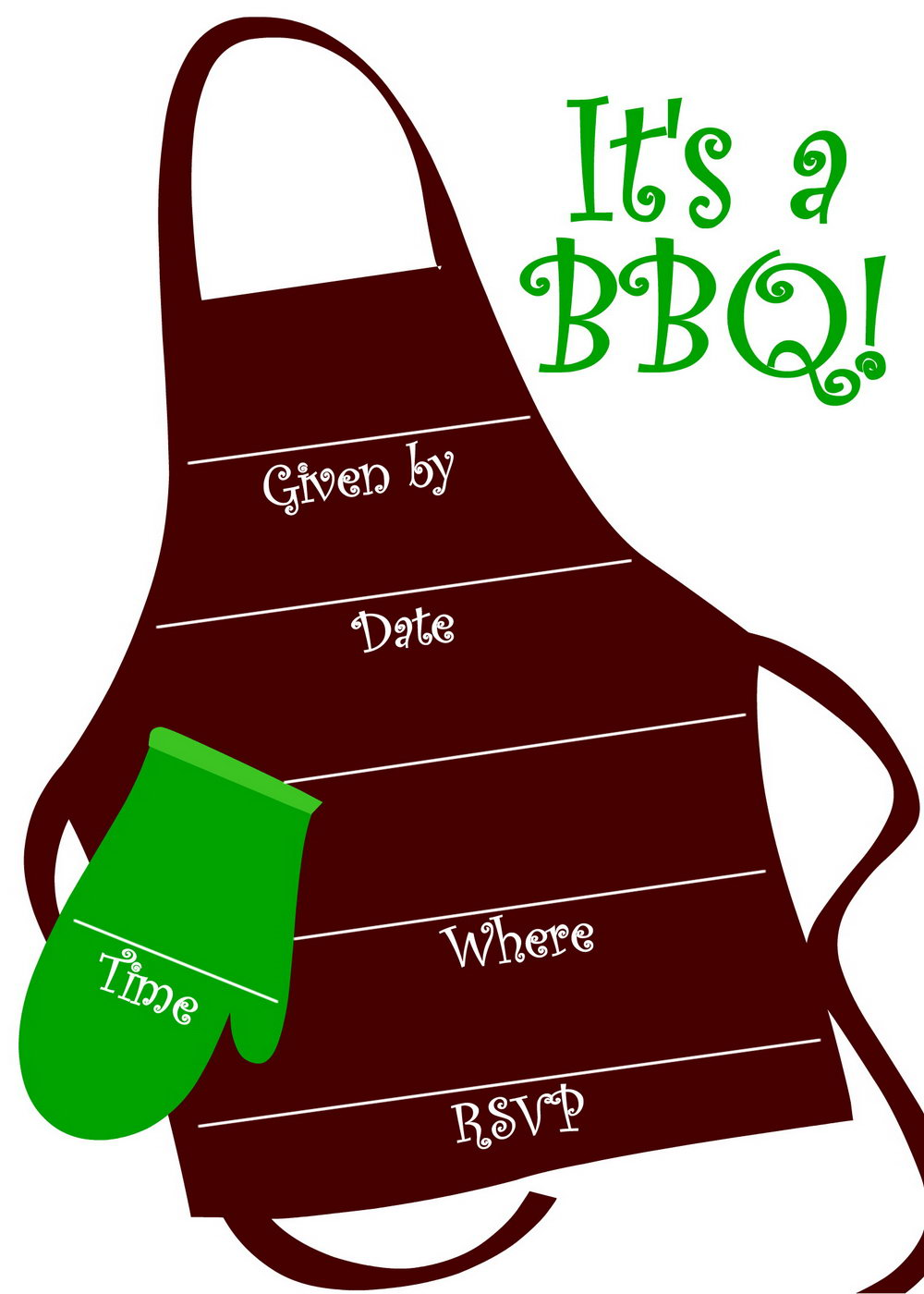 Bbq Invitation Template Free