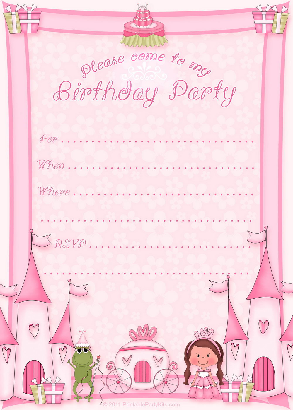 Birthday Party Invitation Templates Free Download
