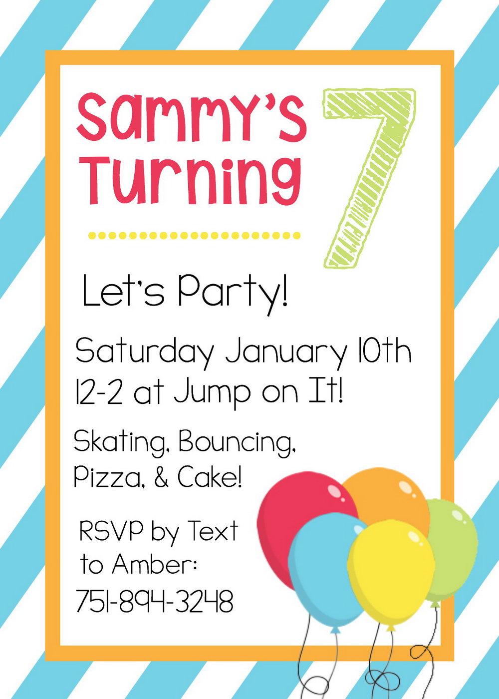 Birthday Party Invitation Templates