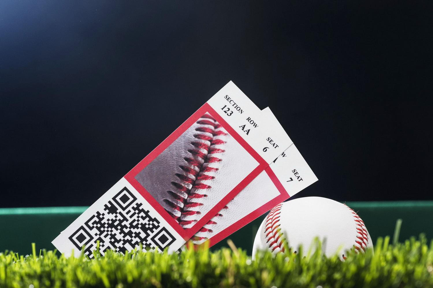 Blank Baseball Ticket Template