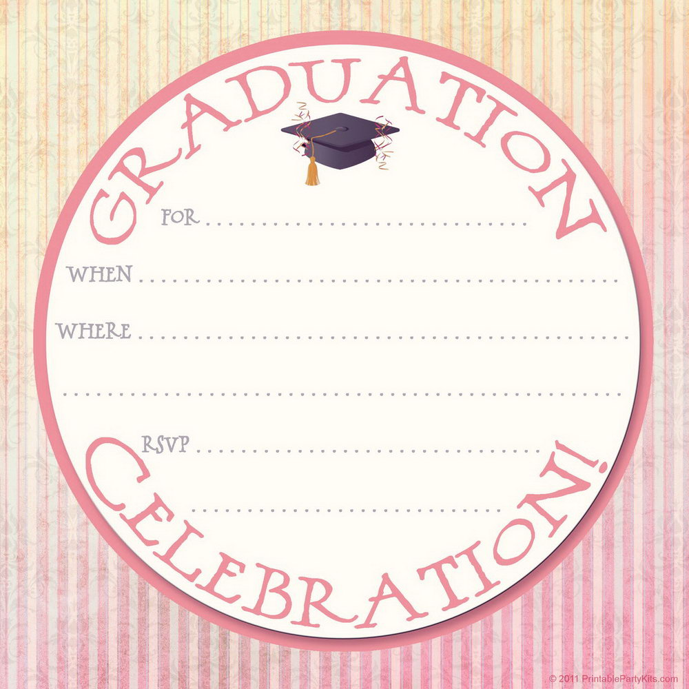 Blank Graduation Invitation Template