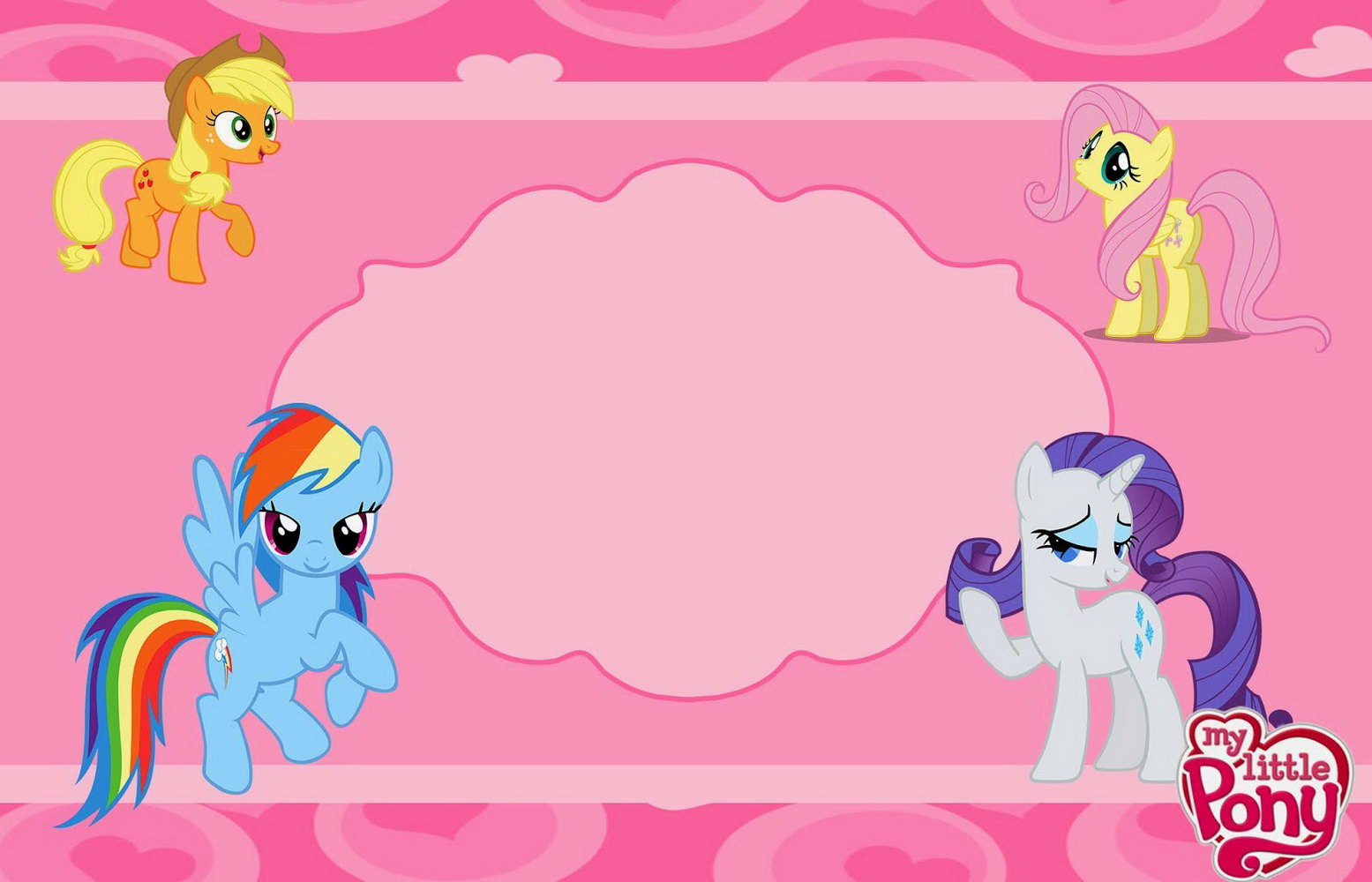 Blank My Little Pony Invitation Template