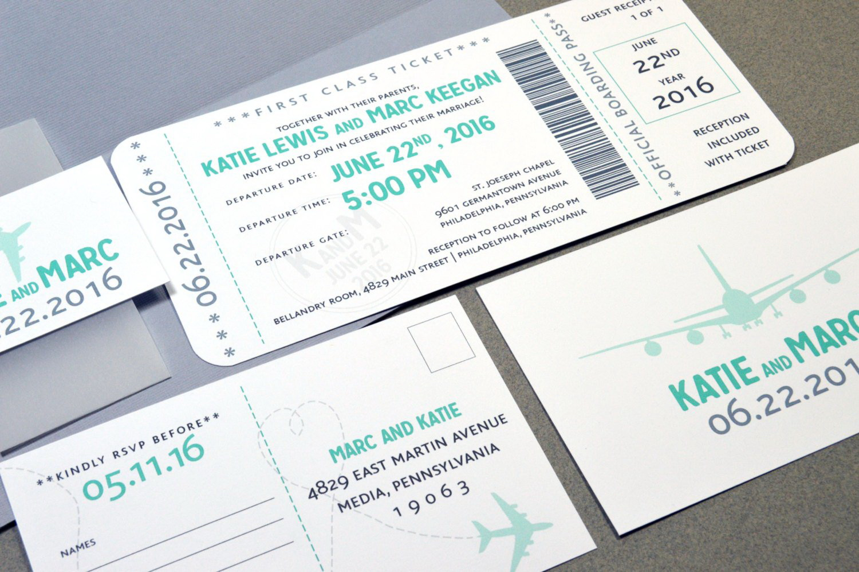 Boarding Pass Invitation Template Download