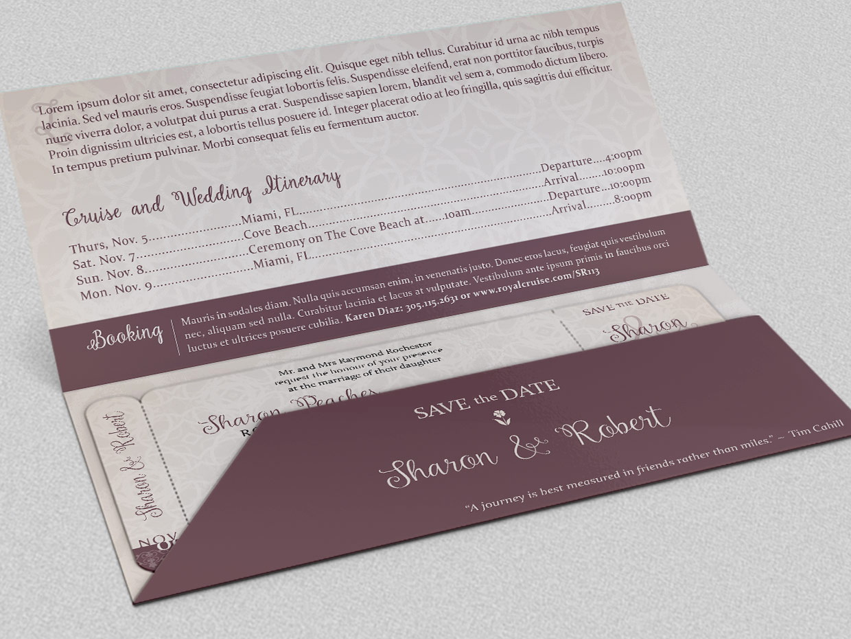 Boarding Pass Wedding Invitation Template Free Download