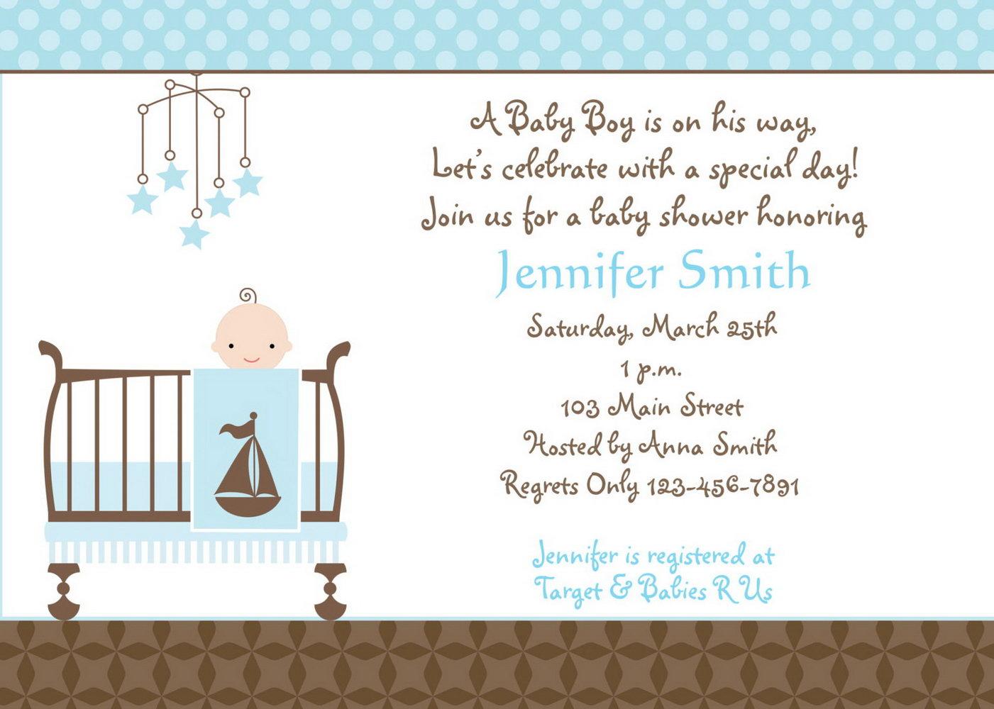 Boy Baby Shower Invitation Templates Free