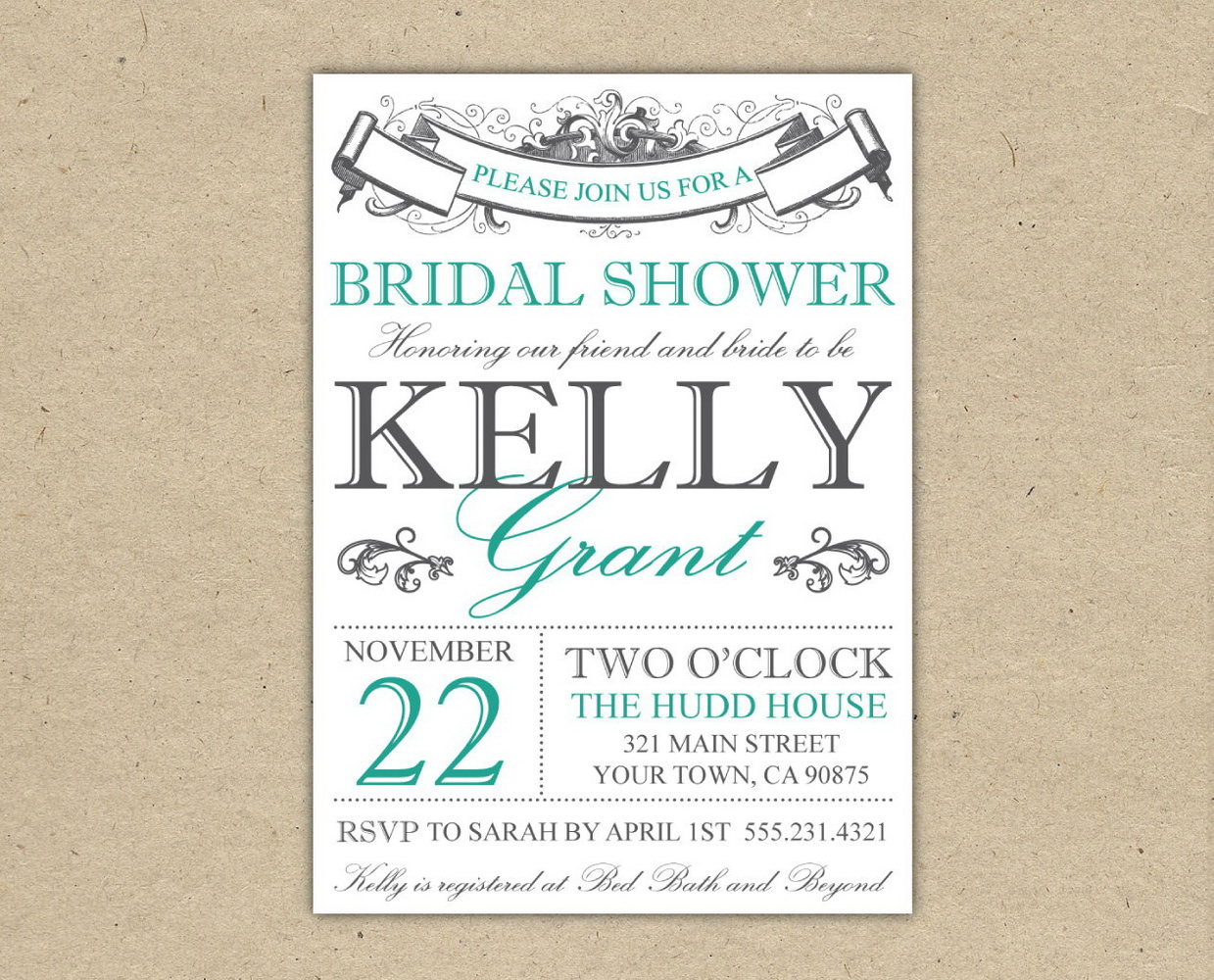 graphic relating to Free Printable Bridal Shower Invitation Templates for Word named Free of charge Printable Bridal Shower Invitation Templates For Term