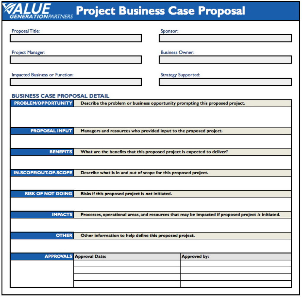 Business Case Template Ppt